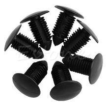 QILEJVS 20Pcs 11mm Car Hole Plastic Black Door Bumper Fender Rivet Push Clips Fasteners