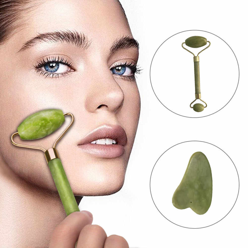 Gezichtsmassage Jade Roller Royal Jade Roller Massager Gezicht Afslanken En Moving Massager Tool Facial Roller massager Nieuwe