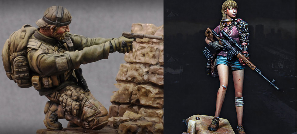 Assembly Unpainted <font><b>Scale</b></font> <font><b>1/24</b></font> 75mm Belford and Special operation forces <font><b>figure</b></font> Historical Resin Model Miniature Kit image