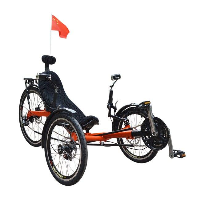 סופר 3 גלגלים תלת אופן שכיבה מתקפל למבוגרים ב-3 גלגלים תלת אופן שכיבה TO-32