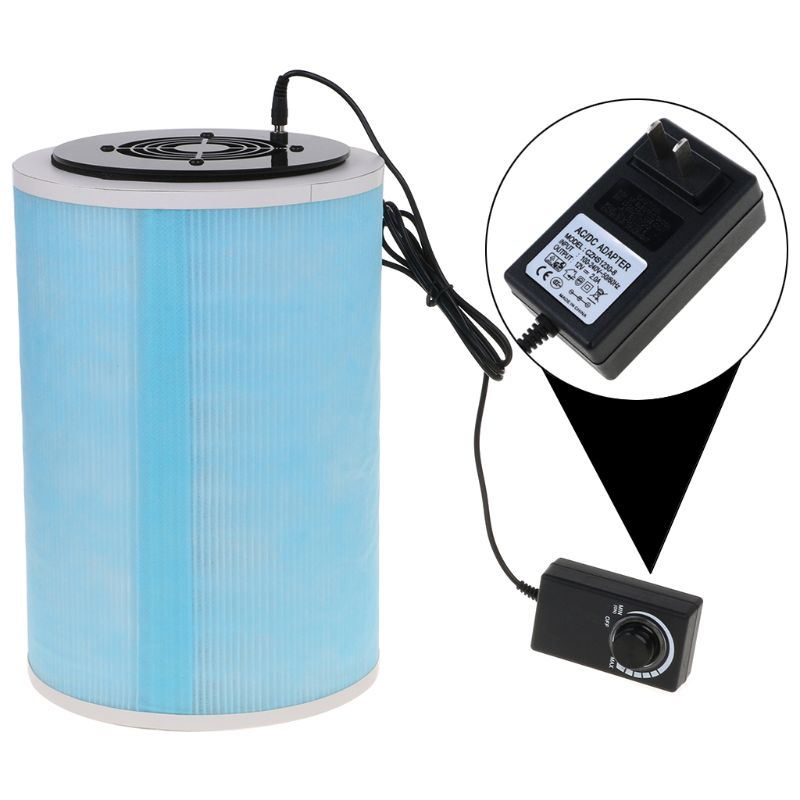 PM2.5 Homemade HEPA Filter Smoke Odor Dust Cartridge Carbon Fiber Formaldehyde Remove For Xiaomi DIY Air Purifier With Power Ada