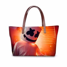 Купить с кэшбэком Noisydesigns women handbags casual large women's shoulder bag personality Marshmello bags ladies high quality 2018 Travel Bags