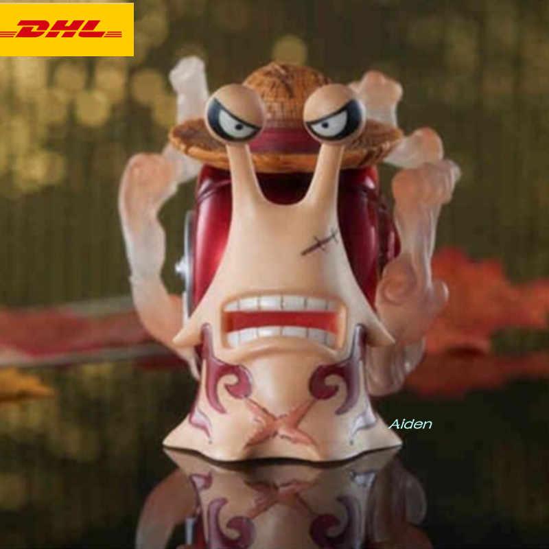 """3 """"ONE PIECE Chapéu de Palha Den Den Mushi Estátua Busto GK Action Figure Collectible Modelo Toy BOX z381"""