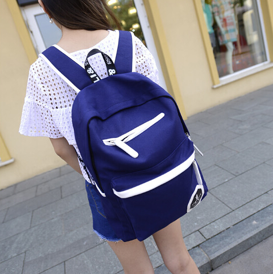 New fashion trends for men and women of quality backpack canvas shoulder bag casual student backpack large capacity travel bag new fashion simple style students canvas shoulder bag large capacity backpack change pouch four sets for girls boys