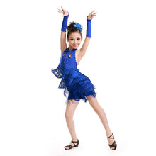 ddf084255 Vestidos para niñas Niñas Ropa de danza flujo Sula Ding vestidos vaina borla  niño princesa vestido de baile latino dancewear