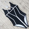 Sexy Swimsuits Women Solid One Pieces Swimwear Halter Bandage Bathing Suit Push Up Monokini Female Backless