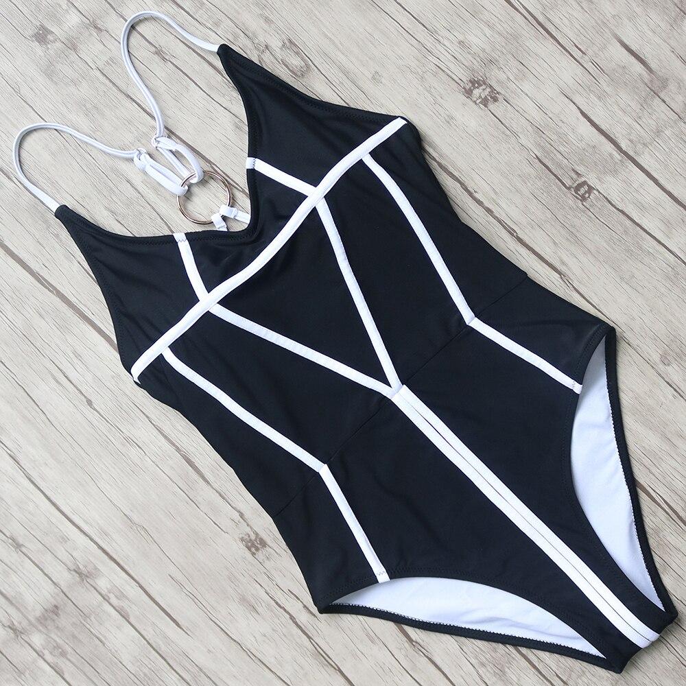Sexy Swimsuits Women Solid One Pieces Swimwear Halter Bandage Bathing Push Up Monokini Female Swim Beachwear Swimsuit Fused 2018