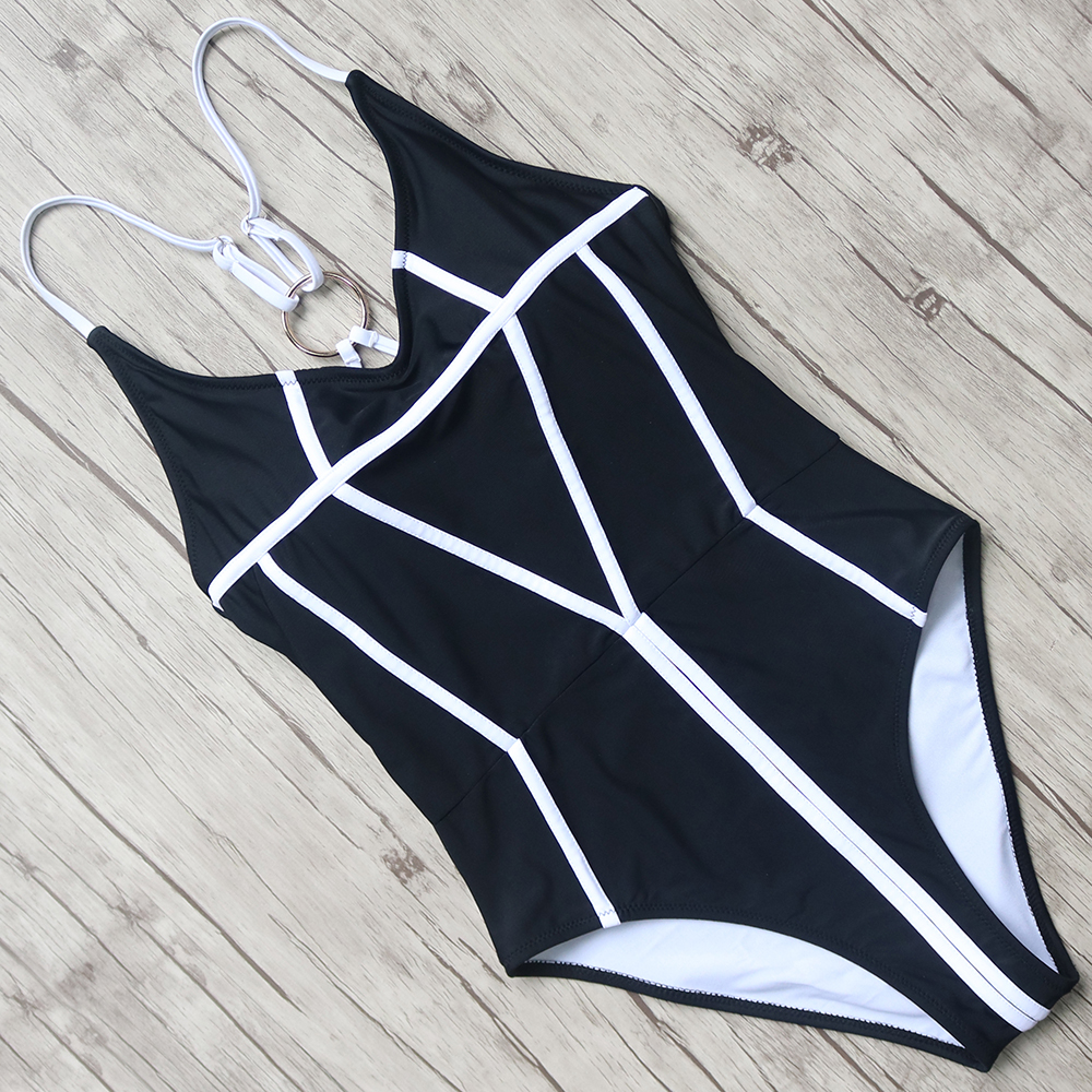 Sexy Swimsuits Women Solid One Pieces Swimwear Halter Bandage Bathing Suit Push Up Monokini Female Backless Swimming Suit Bather womens sexy one piece swimsuits solid sexy swim suit women swimwear may korean fat big yards cotton 2018 swimwear female solid