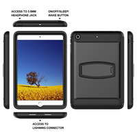 Double Viewing Stand Military Grade Cover Magnet Smart PC Silicone Shock Resistant Case For Apple IPad