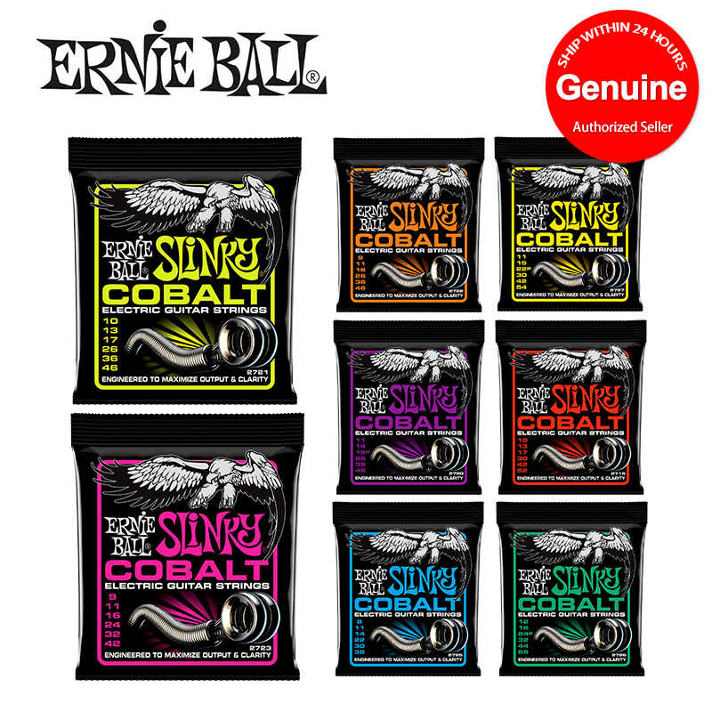 Original Ernie Ball Slinky Cobalt Electric Guitar Strings คุณภาพสูง 2715 2720 2721 2722 2723 2725 2726 2727 2730