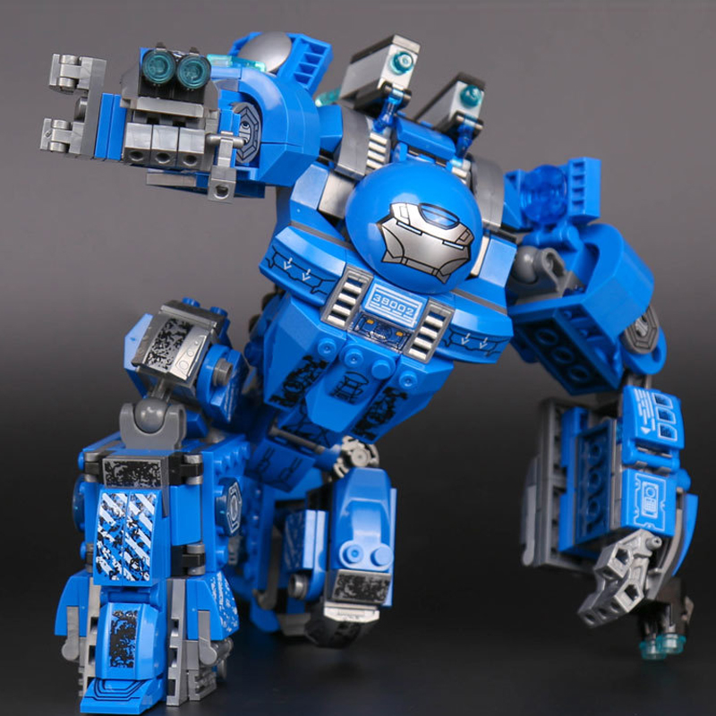 WAZ Compatible legoe marvel Lepin 38002 540pcs super heroes movie building blocks Iron Man Hulk buster Mech toys for children sela sela se001ewiti24