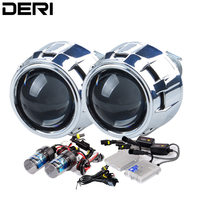 2.5 inch Silver HID Bi xenon Projector Lens Retrofit Kit 55W AC Fast Start Ballast H1 Xenon Lamp 4300K 6000K 8000K Car Styling