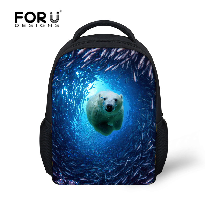 Fashion School Bags for Children Sea World Dolphin Schoolbag Women Kindergarten Bookbags for Girls and Boys Mochila infantil