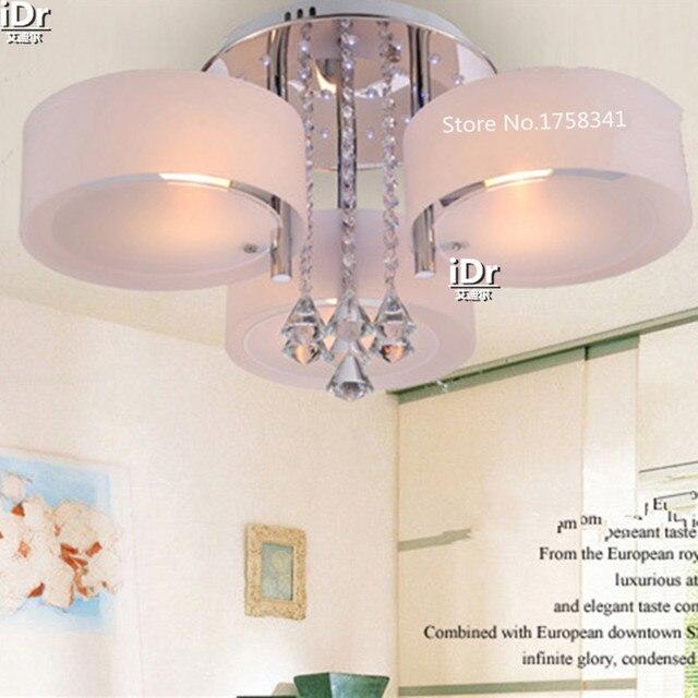 US $128.58 50% OFF|D645mm led K9 kristall deckenleuchten Moderne wohnzimmer  lampen luxus kristall Schlafzimmer lichter in D645mm led K9 kristall ...
