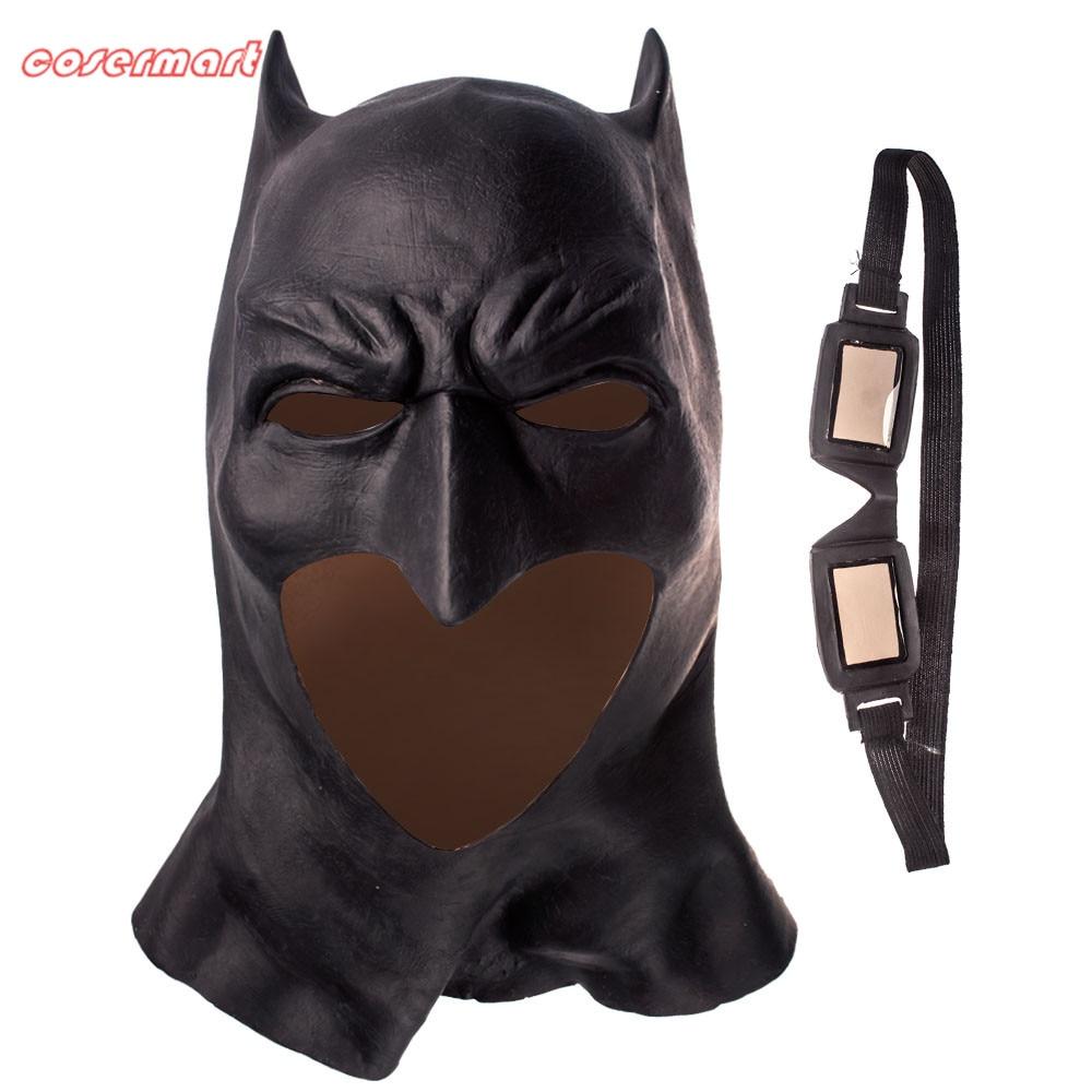 Batman Mask Cosplay Batman V Superman Full Face Latex Mask Halloween Party masks