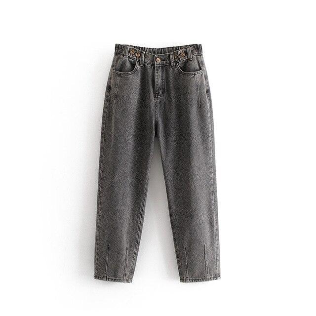 חדש הגעה נשים כוכב 55-8309 אירופה ובאמריקה אופנה רוח אבזם הדוק מותניים ג 'ינס