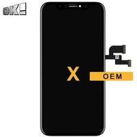 Для iPhone X ЖК дисплей Сенсорный экран Панель OEM качество черный без битых пикселей Дисплей планшета Ассамблеи мобильного телефона Запчасти д