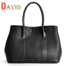 Genuine leather bag luxury garden party tote bags handbags women famous brands high quality shoulder bag