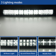 22 inch 7D Curved LED Bar with DRL LED Work Light Bar for Tractor OffRoad 4WD 4×4 Truck SUV ATV 12V 24v LED Light Bar