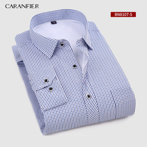 Image 5 - CARANFIER New Hot Selling Winter Casual Shirt Warm Long Sleeve Plaid Shirts Thick Velvet Mens Brand Dress Shirts Male Slim Fit