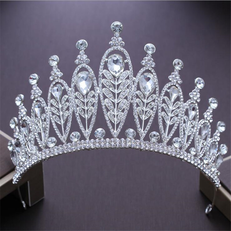 Pageant Tiara Crowns for Wedding hair jewelry Rhinestone Princess crown hairbands ornaments Headband Prom Hair accessories