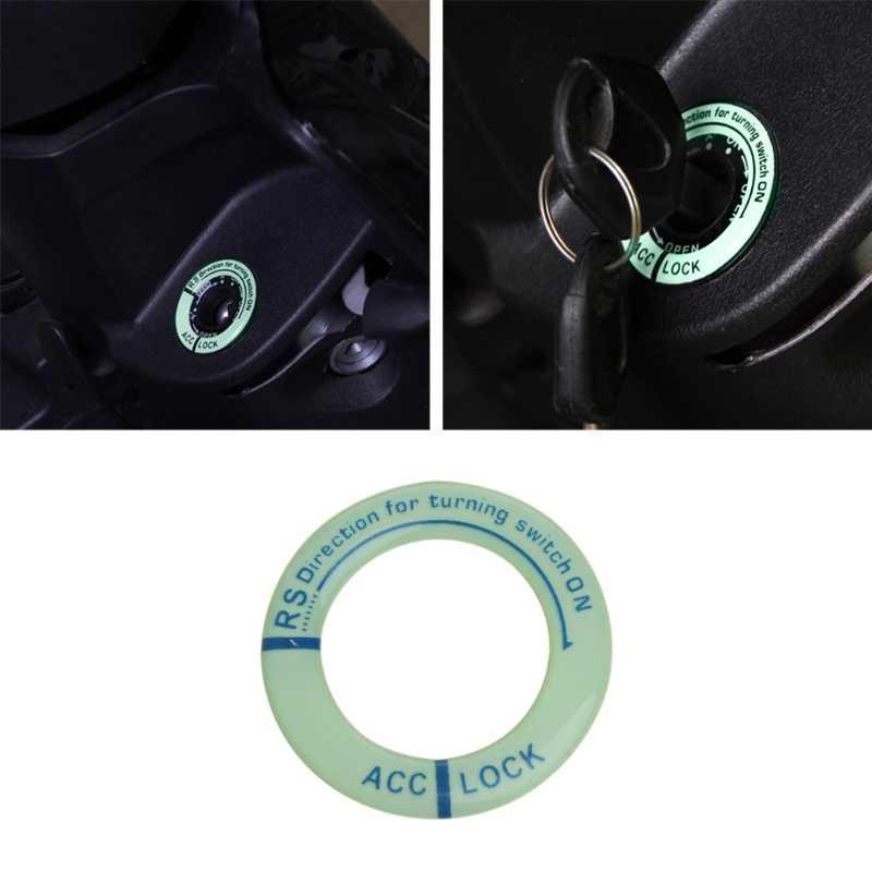 รถเรืองแสง Key Hole สติกเกอร์ Lumunous สวิทช์สวิทช์รถจักรยานยนต์รูปลอก #1 # kui