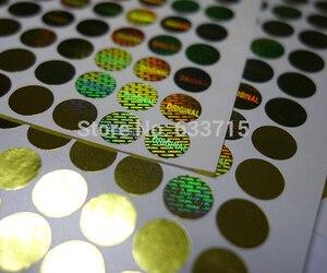 Image 2 - Çapı 8mm altın rengi, USD 15.6/1500 adet lazer hologram etiket, garanti mühür çok yönlü! Geçersizse kaldırıldı