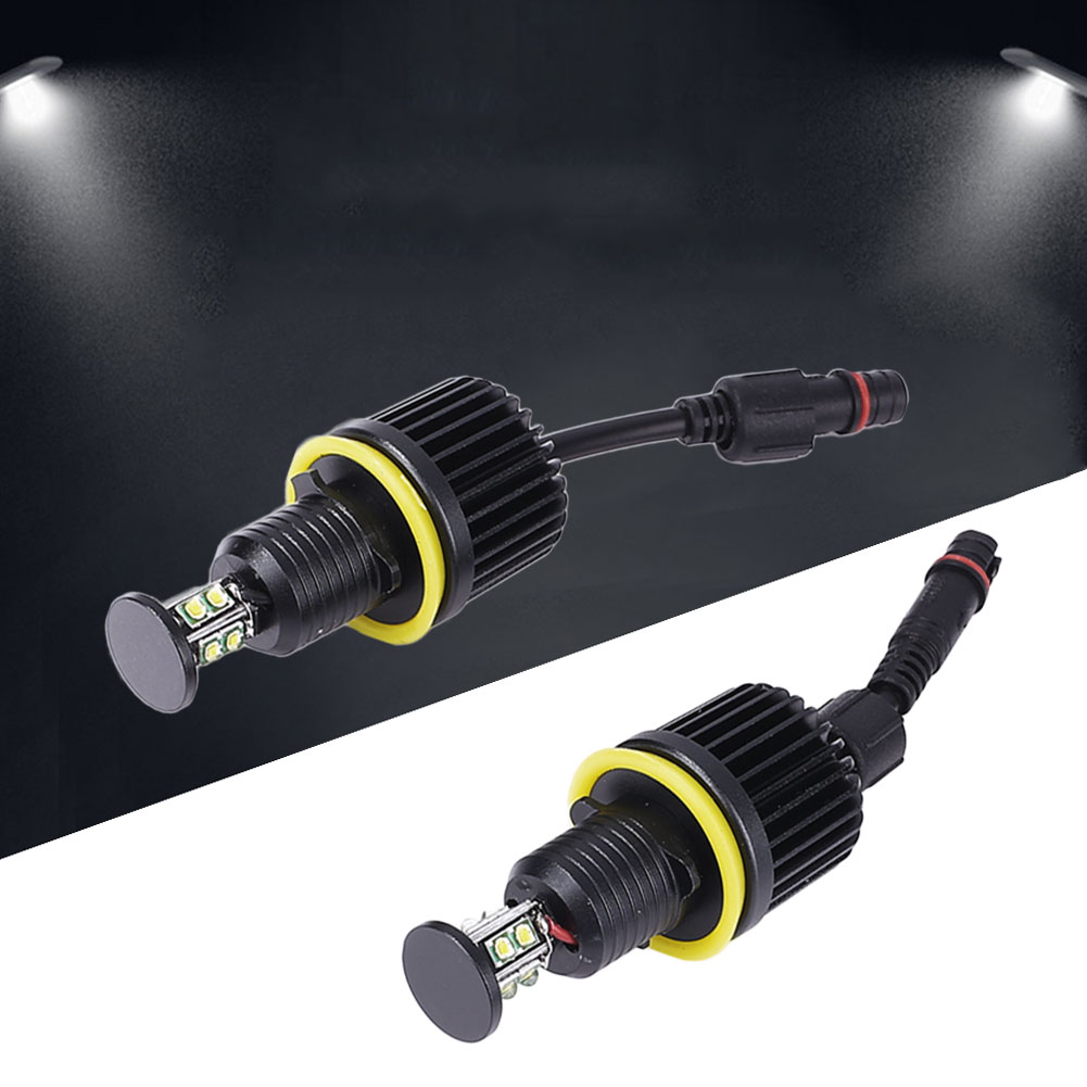 2pcs DC 12V Car LED Angel Eye Light Headlight For BMW E92 Accessories 80W