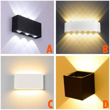 Modern LED Wall Light Waterproof Outdoor Wall Lamp IP65 Die-cast Aluminum AC85-265V Wall Mounted Sconce 12W Lighting Lamp Indoor 12w white spotlight with die cast aluminum fixture