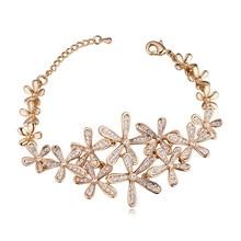 2017 Hot Sale European Bracelet Fashion Jewelry Flower Bracelet Bangle Austrian Crystal Jewellery For Women