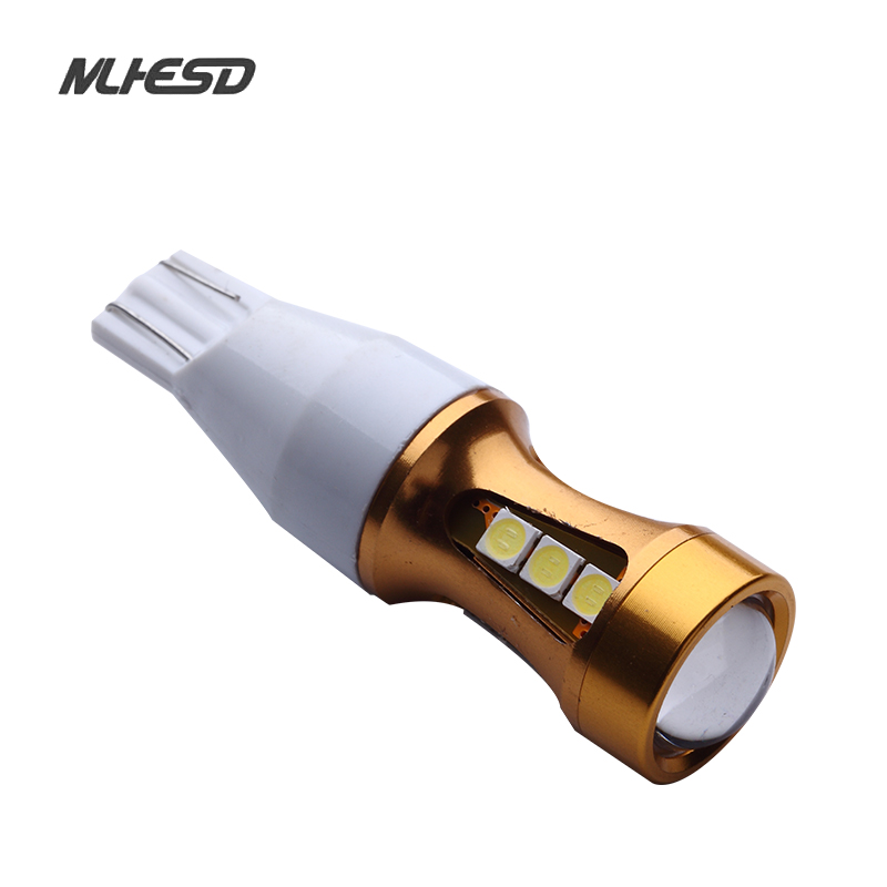 2 pcs T15 Canbus OBC Error Free Bulbs Interior Emitter LED 921 912 W16W Car lamps Auto Lights 15 SMD 3030 Xenon White 12v to 24v xenon white 1 50 36mm 6418 c5w canbus led bulbs error free for audi bmw mercedes porsche vw interior map or dome lights