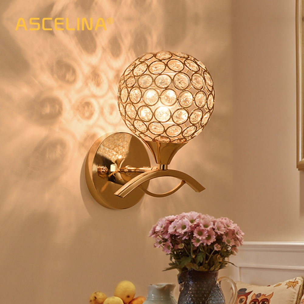 Wall Lamp Modern wall light crystal Wall lamp household wall sconce stair light K9 G9 Material Bedroom Aisle light fixtures