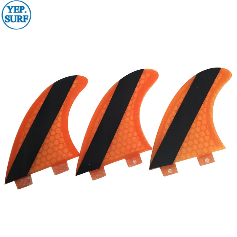 Surf FCS fin Barbatanas de FCS Surfboard G5/G7 Fin Orange Honeycomb Surfing Fin Free Shipping Surfboard Fin