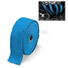 1PCS 1.5m Exhaust Header Heat Wrap Tape Exhaust Pipe Wrap Insulation Discharge Glass Fiber Tape Insulation Wrapped Tape недорго, оригинальная цена