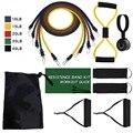 11 шт./компл.  латексные резинки для тренировок  упражнений  йоги  веревки  резиновые расширители  эластичные резинки для фитнеса с сумкой