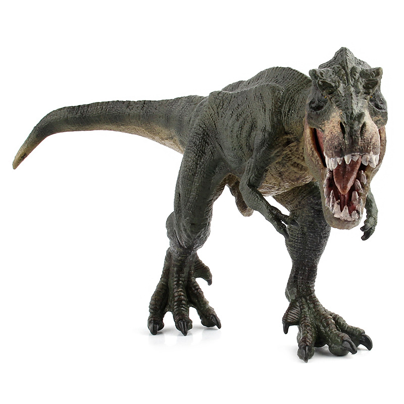 Green Running Tyrannosaurus Rex Dinosaur Model Museum Collection Jurassic World Ancient Creatures Children's Toys marvel image