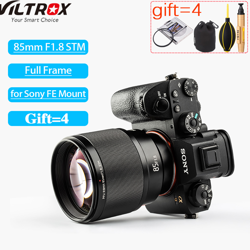 Viltrox 85mm F1.8 STM Camera Lens Auto Focus Portrait Prime Lens Eyes Focus AF For Sony A6000 A6300 A7 A6500 A9 A7RIII FE Mount-in Camera Lens from Consumer Electronics    1
