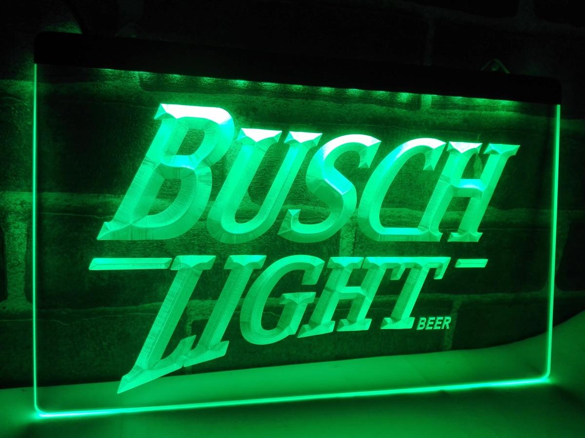 LE088 Busch lite Beer Vintage Club Bar LED Neon Light Sign