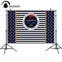 Allenjoy photo backdrop Anchor navigation stripe Holy Communion birthday backdrop photobooth photocall background new shoot