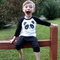 Baby Boys Girls Tshirt Brand Top Tees High quality Terry Kids Cotton Long Sleeve T shirt Panda Boys Children Clothes