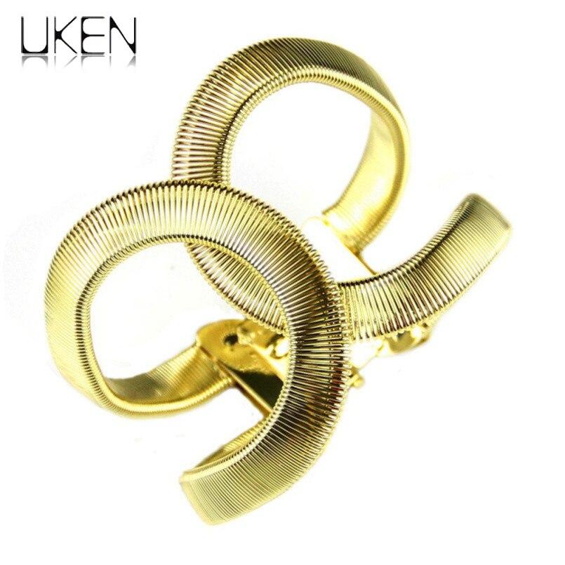 UKEN De Mode Designer CC Bijoux Elegent Alliage Large Printemps Manchette Bracelet Bracelets Déclaration Bijoux De Mode Bracelet Pour Les Femmes
