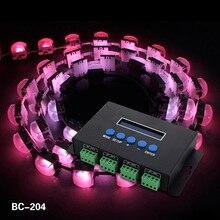 Eternet Protocol Input LED Strip Verlichting RGB Controlers Artnet Naar SPI/DMX Pixel Licht Controller BC-204 DC5V-24V 4 kanalen(China (Mainland))