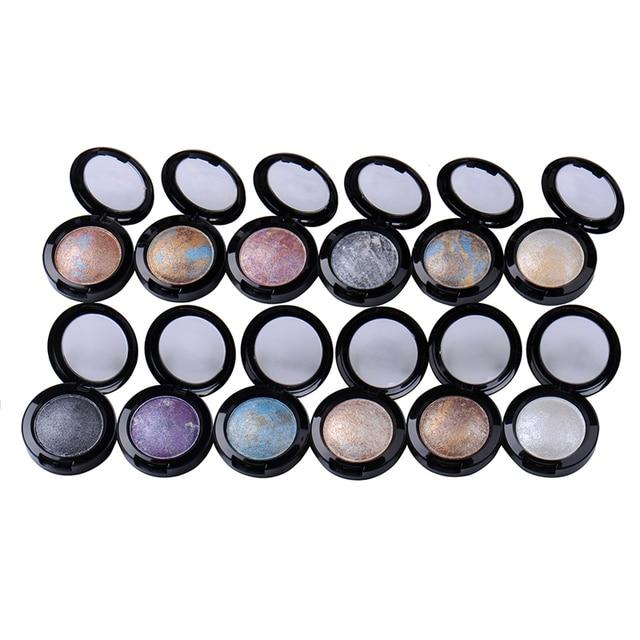 12 Colors/set Baked Naked Eye Shadow Powder Palette Shimmer Metallic Stage Waterproof Long-lasting Makeup Eyeshadow For Women