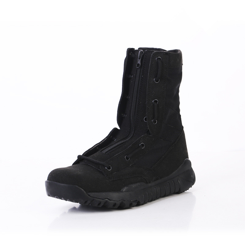 New Men Army Military Breathable Boot Combat Black Suede Super Light Boots