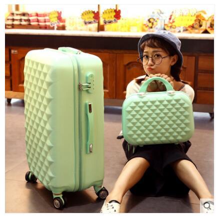 Funda de equipaje enrollable para mujer maleta de viaje maleta con ruedas maleta de equipaje 20 pulgadas 24 pulgadas 26 pulgadas maleta con ruedas-in Bolsas de viaje from Maletas y bolsas    2
