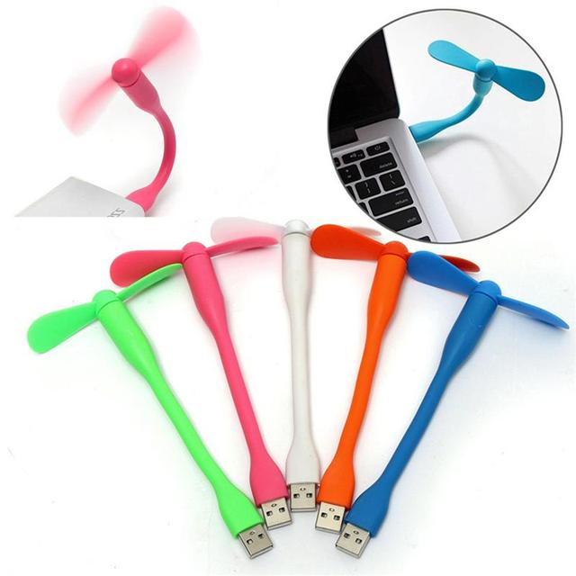USB Fan Flexible USB Portable Mini Fan For Power Bank Notebook Laptop Computer Power-saving