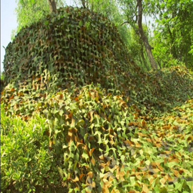 2 * 3M Jungle Camouflage Nets Camouflage Shade Cloth Anti Aerial Photography Sunscreen Nets Shade Sail Voile Field operation