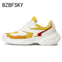 BZBFSKY New men's shoes Spring edition trend hundred sports thick bottom men casual shoes fashion men sneakers off white shoes