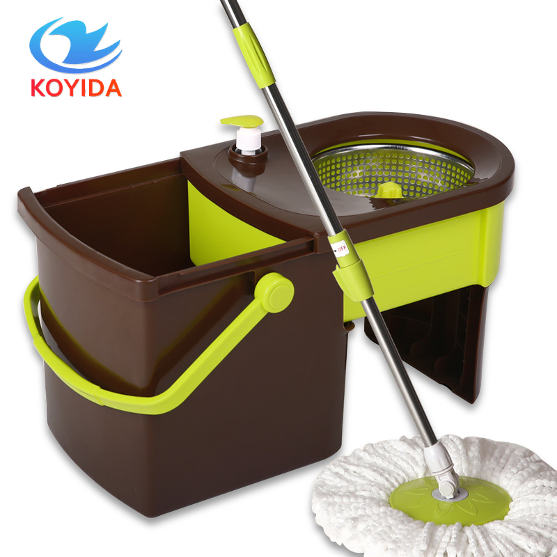 KOYIDA 360 Rotating Spin <font><b>Mop</b></font> Bucket Double-Drive Hand Pressure Stainless Steel Magic Spin <font><b>Mop</b></font> Household Floor Cleaning Tools