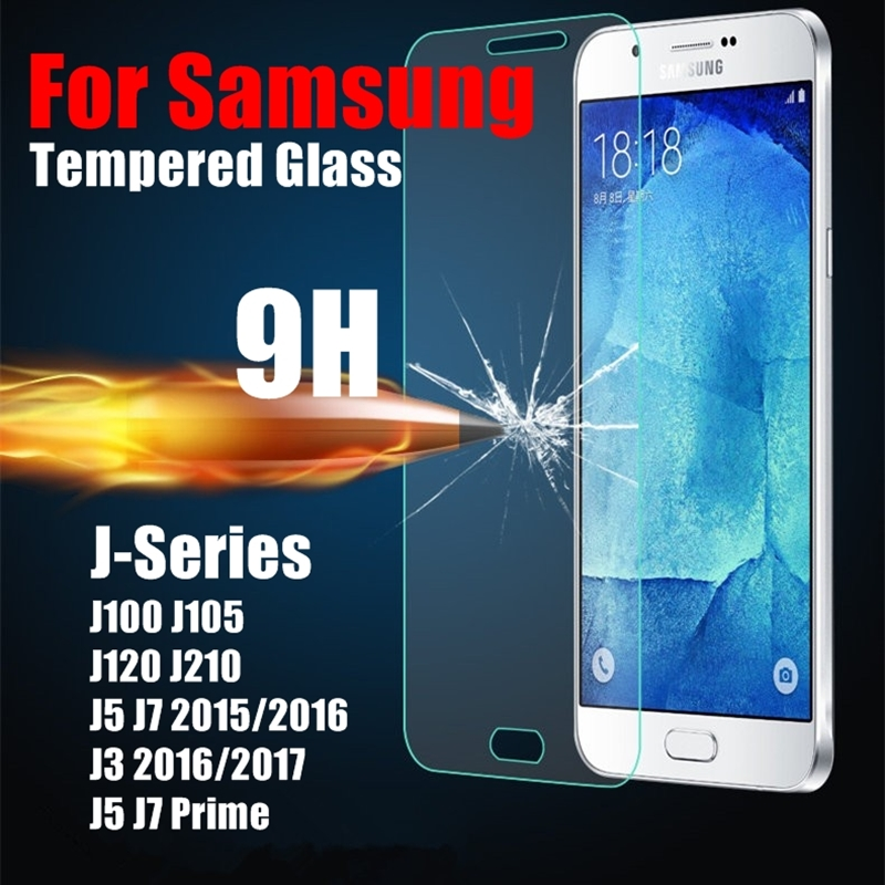 Tempered Glass Film For Samsung Galaxy J1 mini J2 J3 2017 J5 J7 Prime 2015 2016 Toughened Explosion Proof Screen Protector Cover